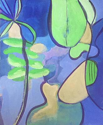 Painting - Abstract Woman In Water Garden by Cherylene Henderson