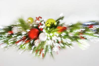 Photograph - Abstracted Christmas - High Key Burst by Georgia Mizuleva