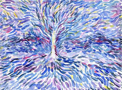 Painting - Abstraction Blue Petals by Irina Dobrotsvet