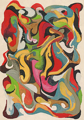 Painting - Abstraction Falling Leaves by Irina Dobrotsvet