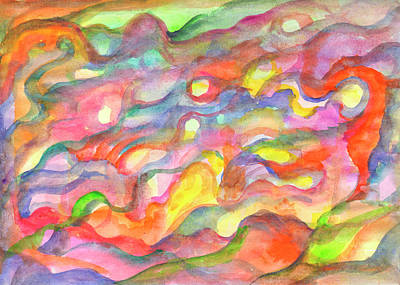 Painting - Abstraction In Sunny Colors by Dobrotsvet Art