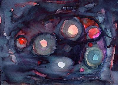 Painting - Abstraction Night Lights by Irina Dobrotsvet