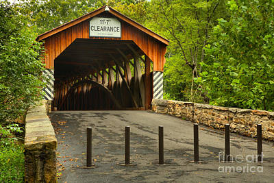 Photograph - Academia Covered Bridge by Adam Jewell