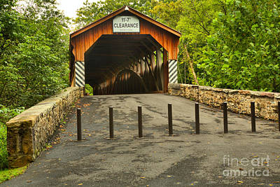 Photograph - Academia Pomeroy Covered Bridge by Adam Jewell