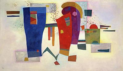 Kandinsky Wall Art - Painting - Accompanied Contrast, 1935 by Wassily Kandinsky