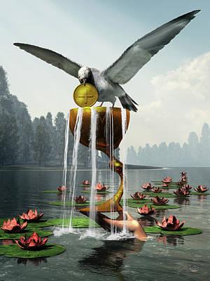 Surrealism Digital Art - Ace of Cups by Daniel Eskridge