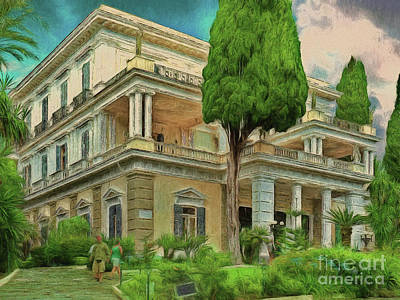 Photograph - Achilleion Palace Corfu by Leigh Kemp
