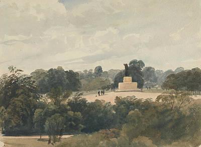 Drawing - Achilles Statue, Hyde Park, London by Peter De Wint
