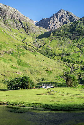 Photograph - Achnambeithach Cottage In Glen Coe, Scotland by Arterra Picture Library