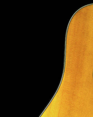 Musicians Photo Rights Managed Images - Acoustic Curve In Black Royalty-Free Image by Bob Orsillo