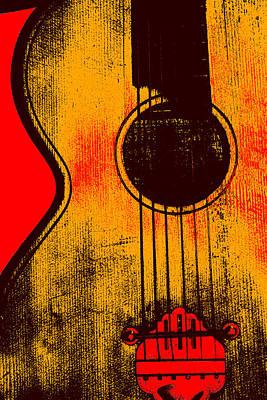 Digital Art - Acoustic Guitar 1 by Artist Dot