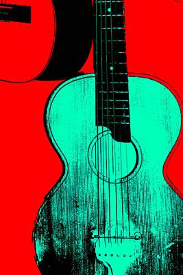 Digital Art - Acoustic Guitar by Artist Dot