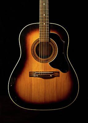 Music Photograph - Acoustic Guitar by Juj Winn