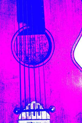 Digital Art - Acoustic Guitar Purple by Artist Dot