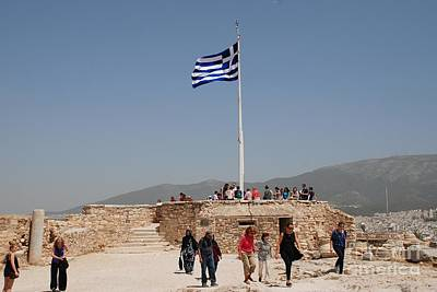 Farmhouse Royalty Free Images - Acropolis viewing platform in Athens Royalty-Free Image by David Fowler