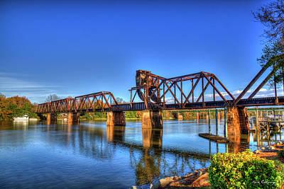 Photograph - Across The Iron 6th Street Rr Bridge Augusta Georgia Art by Reid Callaway