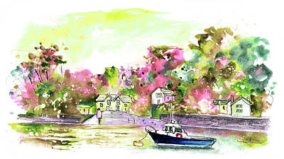 Painting - Across The River Fal by Miki De Goodaboom