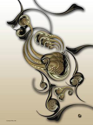 Digital Art - Act With Charismatic Intense by Carmen Fine Art