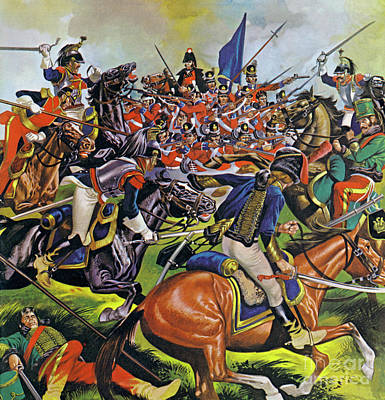 Painting - Action From The Battle Of Waterloo by Ron Embleton