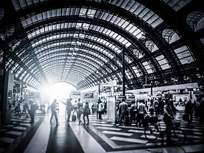 Photograph - Activity In Milan Central Station, Italy by Cirano83
