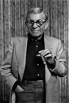 Photograph - Actor & Comedian George Burns Portrait by George Rose