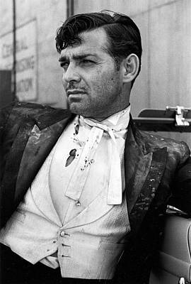 Photograph - Actor Clark Gable In Costume On The Set by Alfred Eisenstaedt