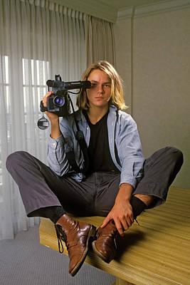 Photograph - Actor River Phoenix Portrait Session by George Rose