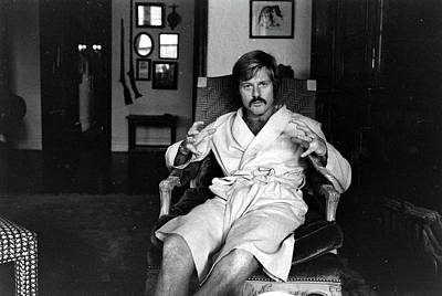 Photograph - Actor Robert Redford In Bathrobe At by John Dominis