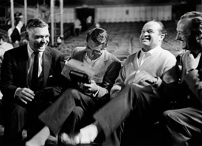 Photograph - Actors L-r Clark Gable Cary Grant Bob by Leonard Mccombe