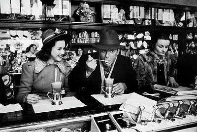 Photograph - Actress Deanna Durbin Having An Ice by Alfred Eisenstaedt