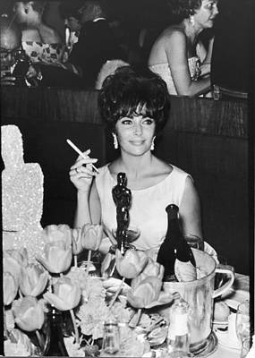 Photograph - Actress Elizabeth Taylor At Hollywood by Allan Grant