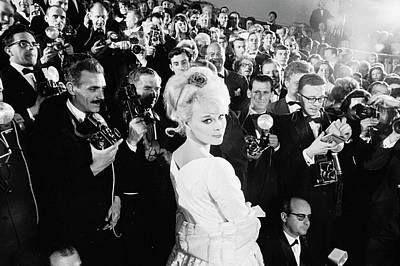 Photograph - Actress Elke Sommer Attending The by Paul Schutzer