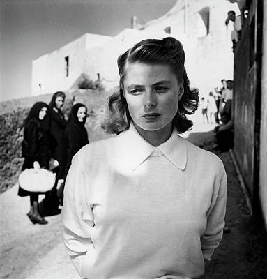 Photograph - Actress Ingrid Bergman Attracting by Gordon Parks