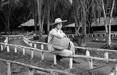Photograph - Actress Katharine Hepburn Posing For by Eliot Elisofon