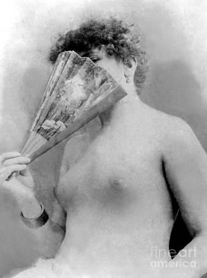 Photograph - Actress Sarah Bernhardt Circa 1880 by French School