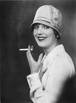Photograph - Actress Smoking by Sasha