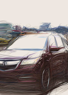 Science Collection Rights Managed Images - Acura Mdx Suv  14043 Royalty-Free Image by CarsToon Concept