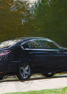 Thomas Kinkade - Acura Tl Sedan  9339 by CarsToon Concept