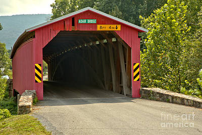 Photograph - Adair Covered Bridge Closeup by Adam Jewell