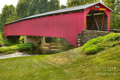 Photograph - Adairs Covered Bridge by Adam Jewell