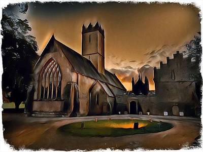 Classical Masterpiece Still Life Paintings - Adare Black Abbey by Mark Callanan