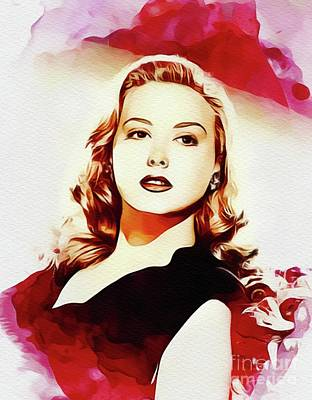 Adele Wall Art - Painting - Adele Mara, Actress by John Springfield