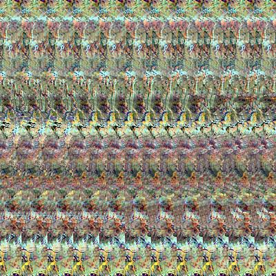 Digital Art - Adenovirus Autostereogram Qualias Bridge by Russell Kightley