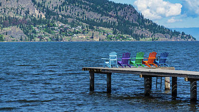 Photograph - Adirondack Dock by Dave Matchett