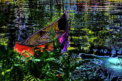 Art Print featuring the photograph Adirondack Guide Boat by David Patterson