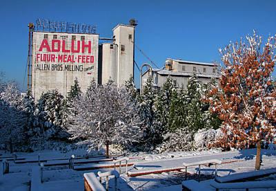 Photograph - Adluh Flour In The Snow 12 by Joseph C Hinson Photography