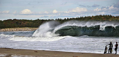 Photograph - Admiring A Killer Wave At Popham Beach, Maine by Sandra Huston