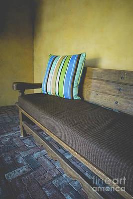 Photograph - Adobe Casita Bench by Edward Fielding