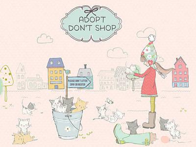 Digital Art - Adopt - Don't Shop by Ruth Moratz