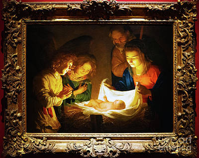 Photograph - Adoration Of The Christ Child Gerard Van Honthorst by Wayne Moran